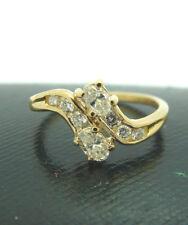 Damen Brillant Ring 750 Gelbgold 18 Karat Diamantring Größe 53