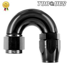 AN -12 (AN12 JIC -12) 180 Degree ULTRAFLOW Swivel Seal Hose Fitting In BLACK