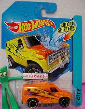 htf 2014 #15 color Shifters BAJA BREAKER van ☆Orange-Yellow;or6☆Hot Wheels
