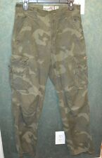 AEROPOSTALE- LADIES GREEN CAMOFLAGE CARGO PANTS- SZ 29W-32L -USED ONCE