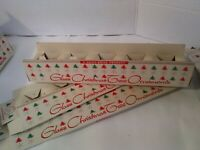 Lot of 3 vintage Shiny Bright Ornaments BOXES hold 5 ornaments each. 3 of 3