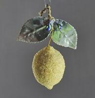 Christbaumschmuck  aus Watte um 1920  - Zitrone  (# 12472)
