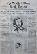ROBERT BROWNING JULIA WEDGEWOOD TALFOURD 1937 September 12 NY Times Book Review