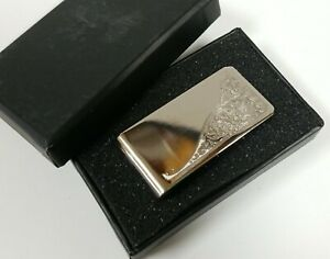 Silver Embossed Money Clip
