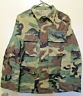 Coat Military Combat Woodland Camouflage Ripstop Small Short Used $9.98