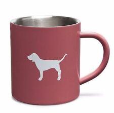 NIB VICTORIA'S SECRET PINK COFFEE MUG CUP DOG LOGO SOFT BEGONIA STAINLESS STEEL