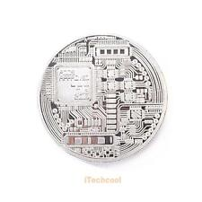 Silver Plated Physical Bitcoins Casascius Bit Coin BTC Souvenir Coin With Case