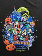 Disneyland Haunted Mansion Holiday Shirt Xl Nightmare Before Christmas NBC Rare