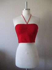 New Stretch Knit Sweater Tube Halter Top  S M L