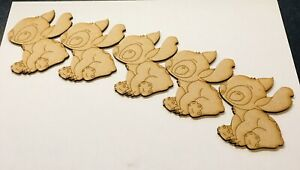 Stitch x 5 Size 70mm x 70mm Blank Craft Mdf Wooden
