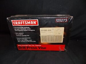 BRAND NEW SEARS CRAFTSMAN DRILL PRESS VISE WITH PRISMATIC JAW 4- iN CAPACITY