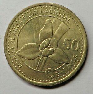 Guatemala 50 Centavos 1998 Nickel-Brass KM#283 UNC