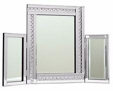 Gatsby Crystal Glass Framed Rectangle Venetian Bevelled Wall Mirror 80cm X 60cm