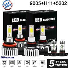 6x LED Headlight High Low + Fog for Chevy Silverado 1500 2500 3500 HD 2007-2019