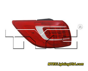 TYC Left Outer Side Tail Light Lamp Assembly for Kia Sportage 2011-2013