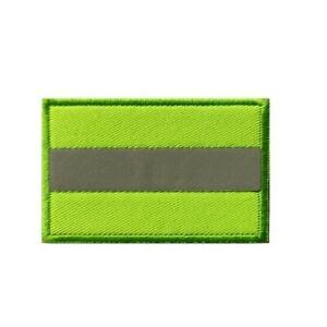 Neon Green Safety Light Reflective Hi Vis Police Firefighter Patch - Hook & Loop