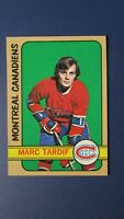 MARC TARDIF   1972-73  TOPPS  # 105  Montreal Canadiens  Quebec Nordiques  MINT