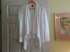 Ladies Talbots White Cotton Cardigan Sweater SP