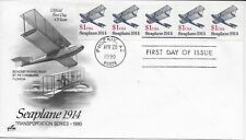 US Scott #2468, First Day Cover 4/20/90 Phoenix Plate #1 Coil Seaplane