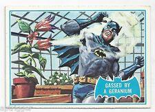 1966 Topps Batman Blue Bat with Bat Cowl Back (33B) Gassed By A Geranium