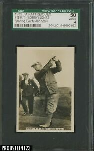 1935 J.A. Pattreiouex Sporting Events & Stars Golf #19 R.T. Bobby Jones SGC 4
