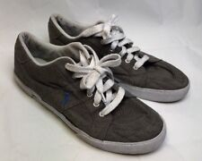 Polo Ralph Lauren Gray Canvas Humberto Shoes 13 D Casual Boat Shoes