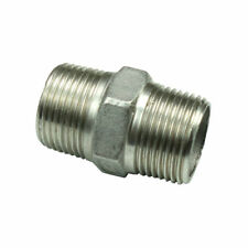 """Stainless 304 Pipe Fitting Hex Nipple 3/8"""" BSPT *3/8"""" BSPT"""