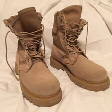 ROCKY 789 Tan Hot Weather Army Combat Boots 5.5W With Vibram Sole