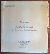 Original Lot Folder & Album Page Franklin Delano Roosevelt coll HR Harmer Panama