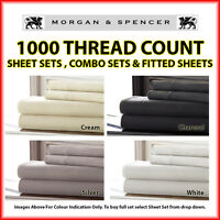 NEW MORGAN AND SPENCER 1000TC THREAD COUNT SHEET SETS| FITTED SHEET| COMBO SETS