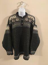 Dale of Norway Classic 100% Wool Nordic Snowflake Pattern Sweater Large Ladies