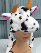 Child Youth Plush Cow Cattle Hat Mask Halloween Costume