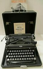 VINTAGE 1941 ROYAL COMPANION C D MODEL PORTABLE TYPEWRITER W/ EXTRAS **CLEAN**