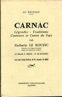 Livre Carnac légendes traditions... book