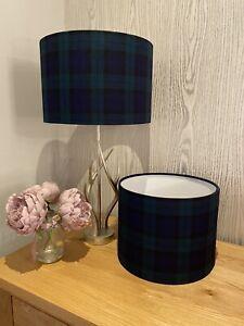 Handmade Lampshade in Black Watch Tartan  Fabric, Various sizes