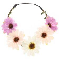 Bride Boho Flower Headband Garland Festival Wedding Floral Crown Hair Band