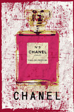 "Abstract Grunge Chanel No 5 Vogue Fashion Original Print Poster Large 24"" x 36"""