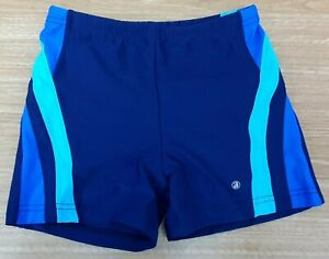 "ACCLAIM Mens Boxer Swimming Trunks Large 28""/30"" Waist Navy Royal Sky Blue"