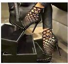 2017 New sexy Luxury Rivets Pumps Women Sandals High Heels Ladies Rivets Shoes