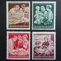 Germany Nazi 1944 Stamps MNH Mother & Child Infant's Crib Public nurse WWII Thir