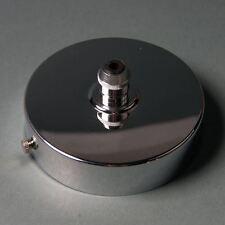 Cromo 100mm Accesorio de iluminación techo placa de cubierta con Cable Agarre