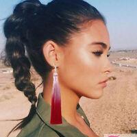 Chic Stacked 2 Layer Gradient Chunky Tassel Fringe Bohemian Dangle Earring Women