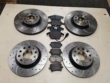 VW GOLF MK5 2.0GTI DSG 200BHP BRAKE DISCS & PADS CROSS DRILLED BREMBO FRONT REAR