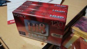Sony Hi 8 Metal Particle 3-Pack 120min Hi8 Cassette ** Brand New **