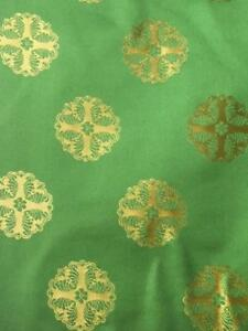 .DESIGNERS GUILD FABRIC ROYAL COLLECTION ORIEL EMERALD  SILK  FQ001