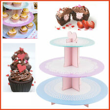Tala 3 Tier Cupcake Stand Hard Cardboard Round Party Table Decor Holder Display