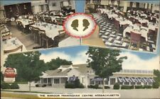 Framingham Zentrum MA der Maridor Leinen Postkarte