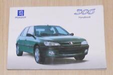 PEUGEOT 306 Car Owner's Handbook May 1997 #AN.97306.0031