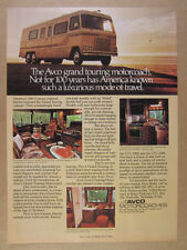 1978 Avco Grand Touring GTC Motorhome RV Motorcoach photos vintage print Ad