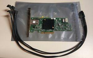 HP LSI 8-PORT SAS 6GB Raid Card SAS9217-4i4e 725904-001 725504-001 w/Cable
